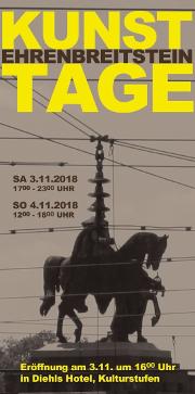 11. Ehrenbreitsteiner Kunsttage - am 3. und 4. November 2018 in Koblenz!