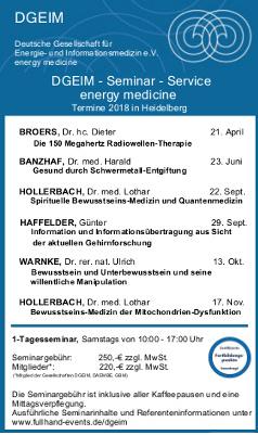 Energiemedizin-Seminare - jetzt anmelden!